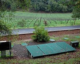 Photo of AdvanTex system at hillside winery