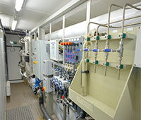 Photo of industrial control panel in water plant