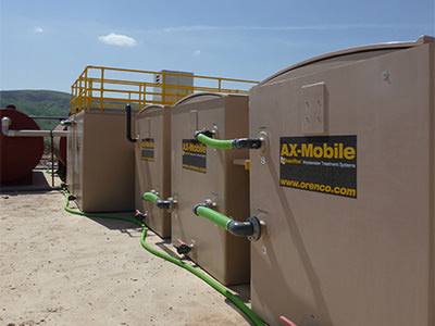 Photo of AX-Mobile Wastewater treatment system at oil & gas camp