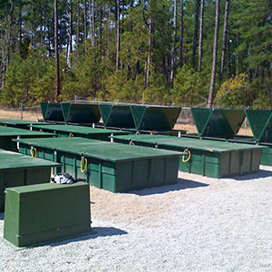 Photo of an AdvanTex Wastewater Treatment System at a recreation area in Pointes West, Georgia, USA