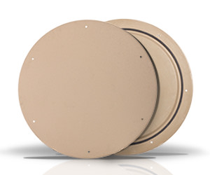 Photo of fiberglass access lids