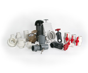 Photo of assorted unions and valves