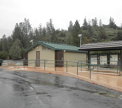 Photo of rest area with AdvanTex treatment system