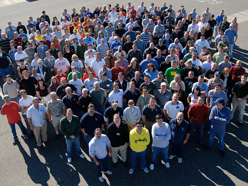 Photo of many Orenco staff members at our Oregon headquarters